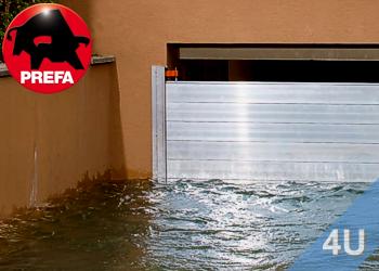 Mobiler- Objekt Hochwasserschutz von Prefa