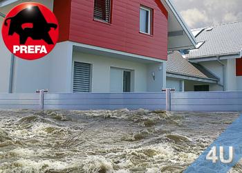 Mobiler- Landschaft Hochwasserschutz von Prefa