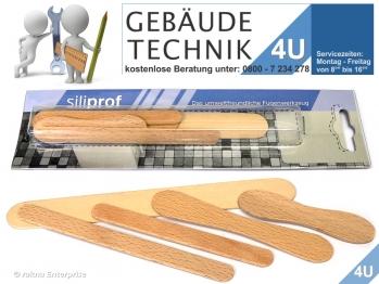 Siliprof - Fugenwerkzeug - Werkzeug zum abziehen von  Silikonfugen aus echt Holz