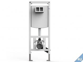 Vigour Betätigungsplatte AI WC Glas (weiß) - Kunststoff (weiß)