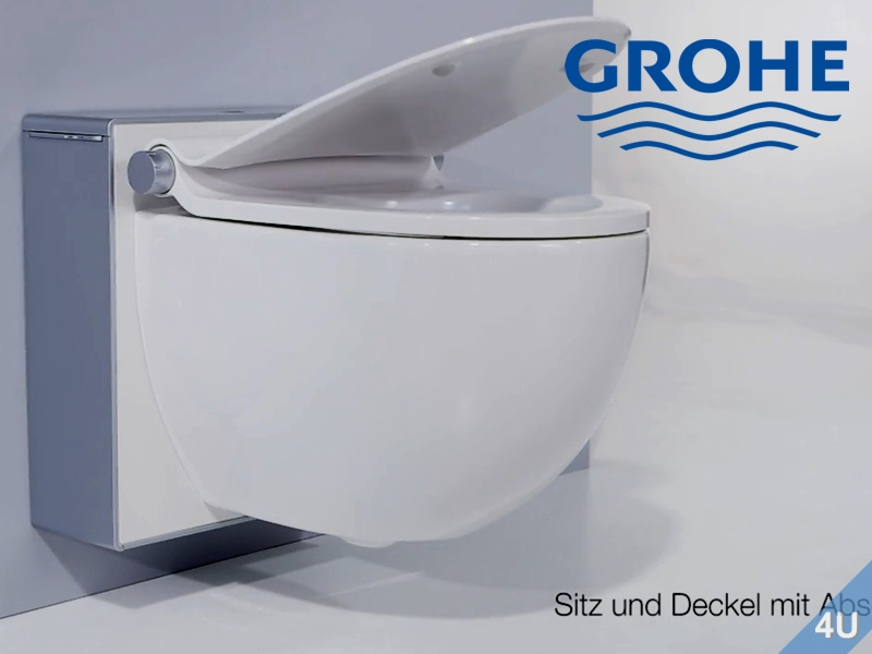 grohe sensia igs dusch wc komplettanlage wei mattchrom rot. Black Bedroom Furniture Sets. Home Design Ideas