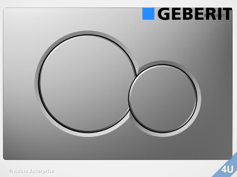 Turbo Geberit Betätigungsplatte Sigma01 für WC-Elemente, Farbe :chrom EI46