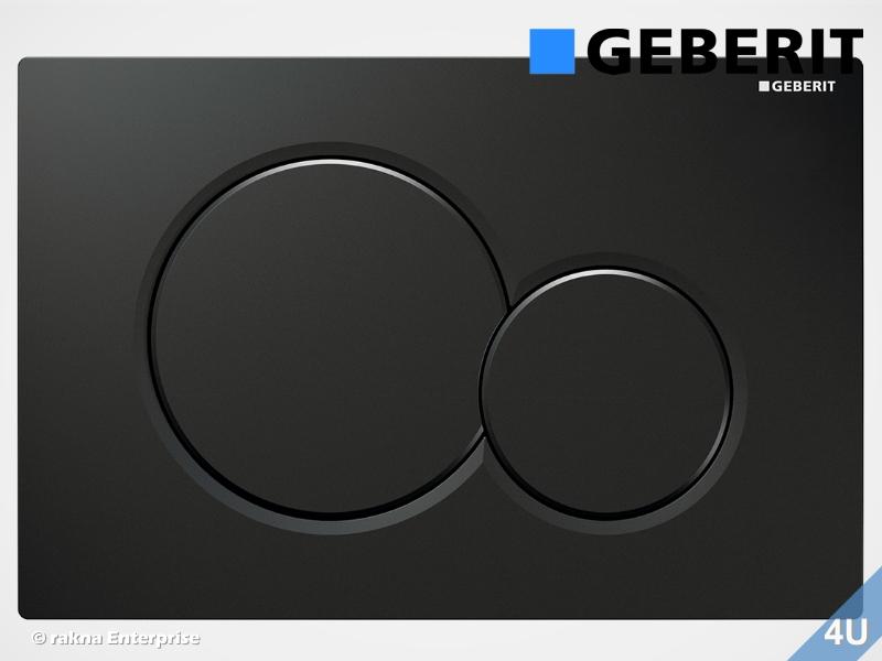 Geberit Betatigungsplatte Sigma01 Fur Wc Elemente Farbe Tiefschwarz