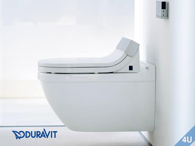 duravit dusch wc sitz mit verdeckten anschl ssen sensowash starck e. Black Bedroom Furniture Sets. Home Design Ideas