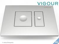 Vigour Betätigungsplatte AI WC Kunststoff  seidenmatt
