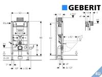 Geberit ::  Vorwand Montageelement  Wand-WC Duofix