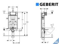 Geberit ::  Vorwand Montageelement  Wand-WC Kombifix Plus