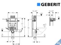 Geberit ::  Vorwand Montageelement  Wand-WC Kombifix 820