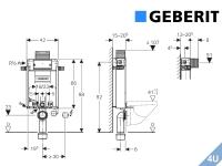 Geberit ::  Vorwand Montageelement  Wand-WC Kombifix 980
