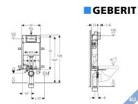 Geberit ::  Vorwand Montageelement  Wand-WC Kombifix