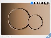 Geberit Betätigungsplatte Sigma01 Edelmessing  für WC