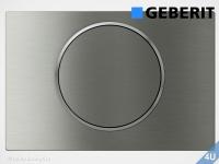 Geberit Betätigungsplatte Sigma10 Edelstahl gebürstet / poliert für WC