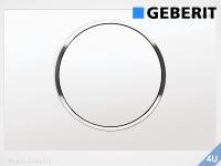 Geberit Betätigungsplatte Sigma10 weiß / hochglanz-verchromt für WC