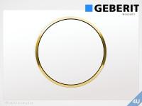 Geberit Betätigungsplatte Sigma10 weiß / vergoldet für WC