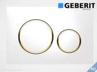 Geberit Betätigungsplatte Sigma20 weiß / vergoldet  für WC