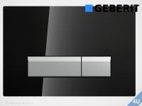 Geberit Betätigungsplatte Sigma40 Glas schwarz für WC