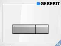 Geberit Betätigungsplatte Sigma40 Glas weiß für WC