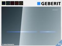 Geberit Betätigungsplatte Sigma80 Glas verspiegelt  HyTronic für WC