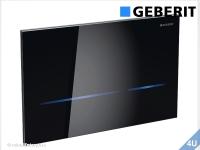Geberit Betätigungsplatte Sigma80 Glas schwarz  HyTronic für WC