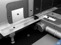 VIGOUR :: Rohbau-Set Wandeinlauf für Designrost Cosima Edelstahl Glas weiss