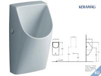 Keramag Urinal Renova Nr.1 Plan wasserlos weiss