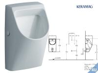 Keramag Urinal Renova Nr.1 Plan weiss