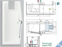 Novellini :: Badewanne Novellini IRIS weiss  180x 75 / 85 cm weiss