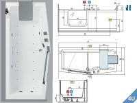Novellini :: PLUSPOOL Novellini IRIS weiss  180x 75 / 85 cm weiss