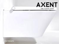 AXENT One Plus Dusch-WC komplett wandhängend weiß / Pflegeleicht