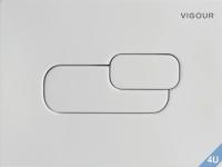 Vigour Betätigungsplatte AI 2  weiß für WC
