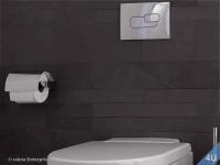Vigour Betätigungsplatte AI 2  seidenmatt verchromt für WC