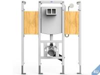 Conel :: VIS Vorwand Montageelement  Wand-WC barrierefrei