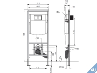 Conel :: VIS Vorwand Montageelement  Wand-WC