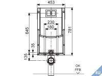 Conel :: VIS  Montageelement  Wand-WC Nassbau