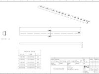 vigour duschrinne designrost f r cosima edelstahl geb rstet 1200 mm. Black Bedroom Furniture Sets. Home Design Ideas