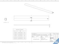 VIGOUR :: Designrost für Cosima Duschrinne V2 Edelstahl gebürstet 900mm
